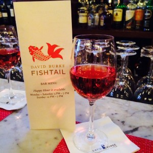 A little happy hour rose at David Burke Fishtail
