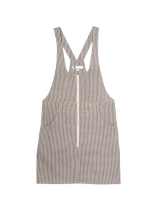 Engine Stripe Jumpy- 100% Cotton jumper dress with exposed zipper.