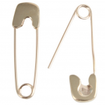 Gillian Conroy Gold Safety Pin Earrings