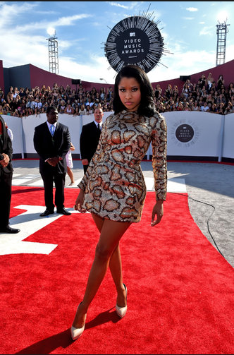 Nicki Minaj in Saint Laurent, I can't get enough of this new stylish side of Nicki!