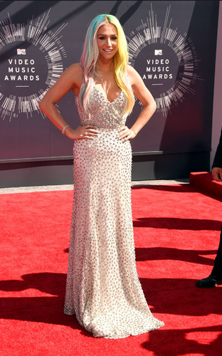 Kesha in Johanna Johnson, we're so happy to see her looking so beautiful and healthy and happy, she's practically glowing.