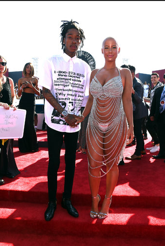 Amber Rose in Laurel DeWitt, haven't we already seen this look on the VMA red carpet? And I don't remember liking it the first time.  Amber, you can do better!