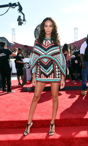 Joan Smalls in Balmain, we love the print and the style, the Balmain Army is at it again!